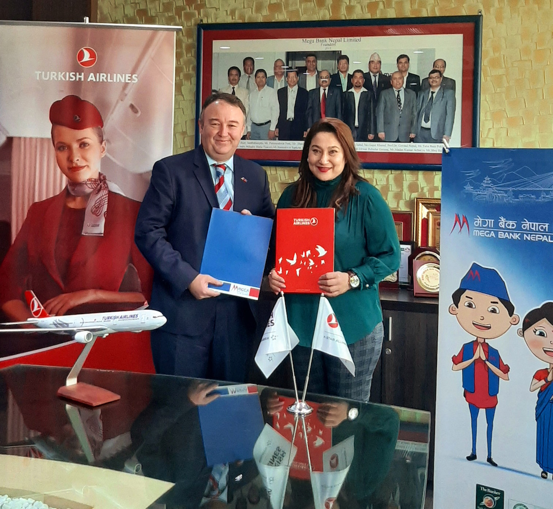 Turkish Airlines with Mega Bank