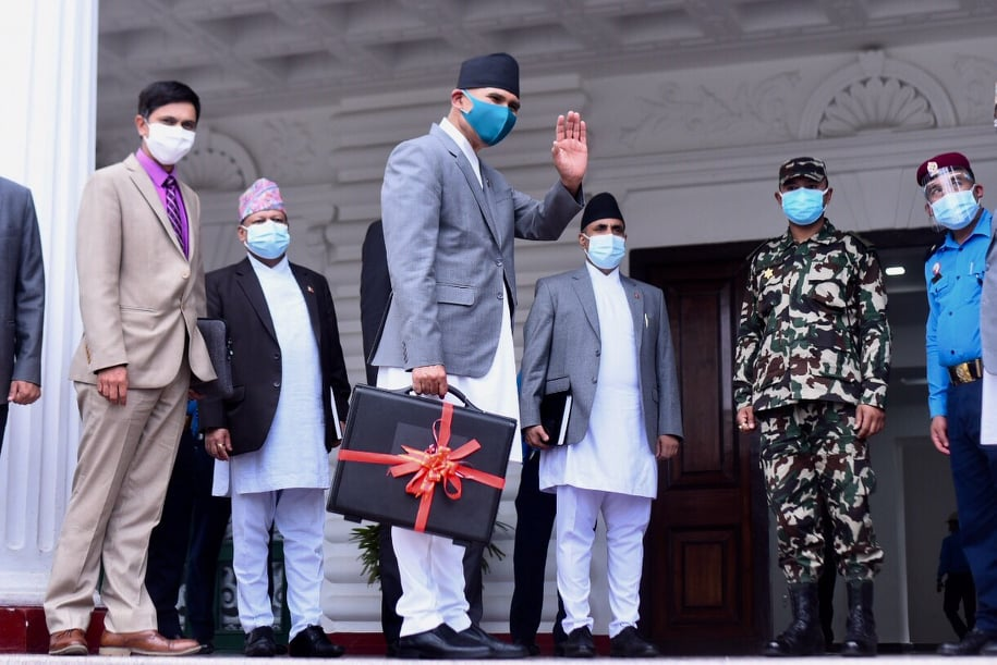 Finance Minister Bishnu Prasad Paudel on Saturday unveiled the 1.647 trillion budget ($14.17 billion) for the 2021-22 fiscal year with the focus on Covid-19 pandemic and economic recovery and with the target of achieving 6.5% growth rate.
