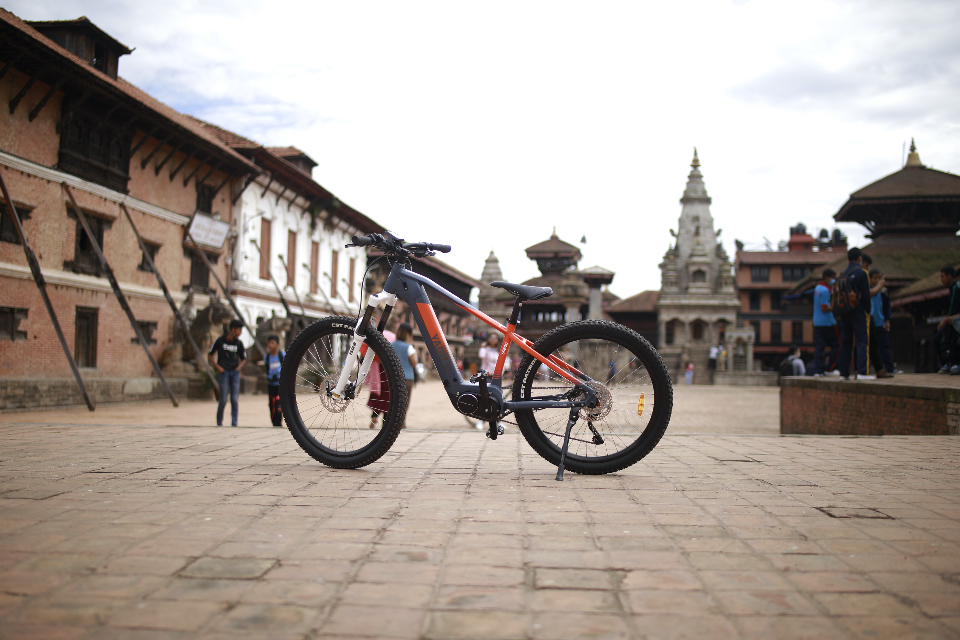 Electric bicycles in Nepal terrain